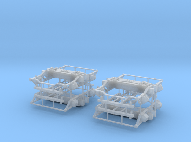 "On3 DSP&P Type ""A""/Litchfield Trucks, 2 pair 3d printed"