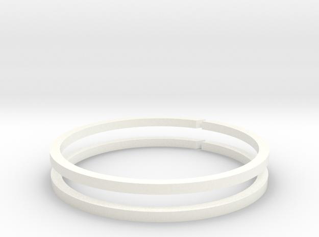 Piston Cup v1.1 - Piston Rings in White Processed Versatile Plastic