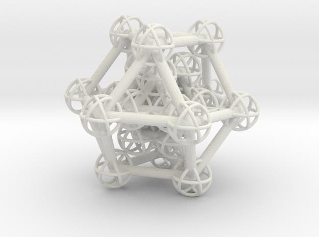 Hyper Cuboctahedron study in White Natural Versatile Plastic