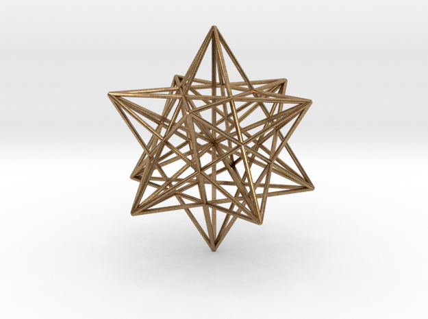 Stellated Dodecahedron with axes - 50mm 3d printed