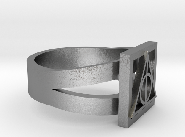 Deathly Hallows Ring Size 5 3d printed