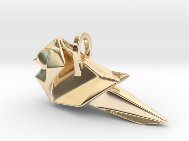 Origami Cardinal finch