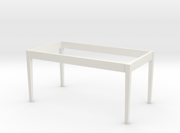 1:24 Dining Room Table Base in White Strong & Flexible