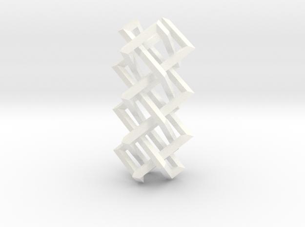 Right-angled Braidwork II (loose variant) 3d printed