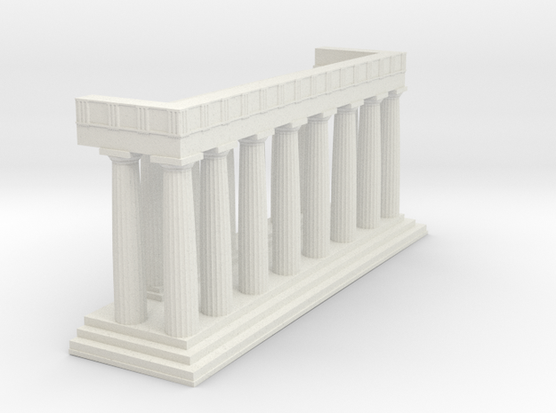 1:150 Parthenon Eastern Facade in White Natural Versatile Plastic