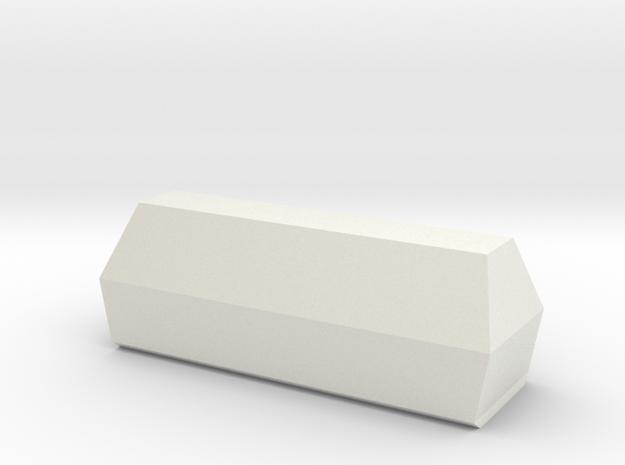 Coffin 1:43 in White Natural Versatile Plastic