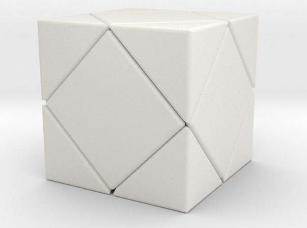 Twistopoly: Skewb in White Strong & Flexible