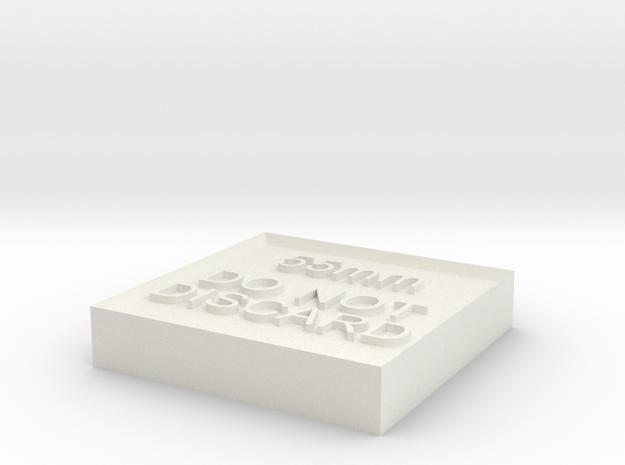 Alignment Block 55mm in White Natural Versatile Plastic