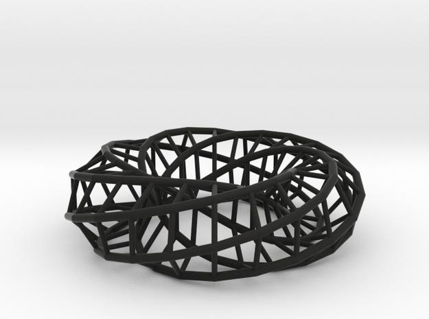 Moebius hexagon | Napkin Ring 3d printed