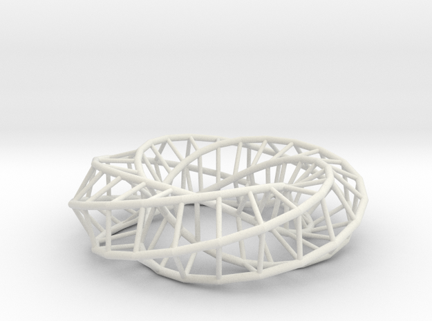 Moebius Pentagon | Napkin Ring in White Natural Versatile Plastic