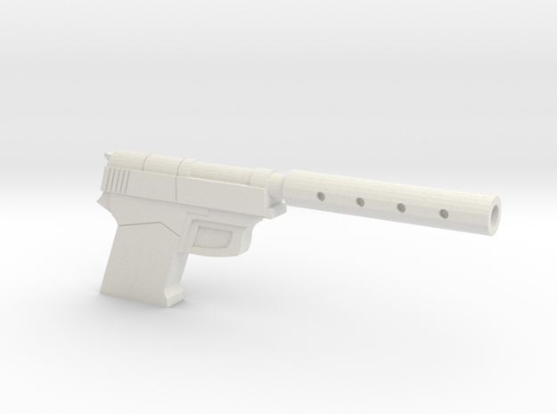 9mm with silencer in White Natural Versatile Plastic