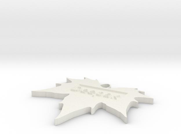 by kelecrea, engraved: Deepak Verma in White Natural Versatile Plastic
