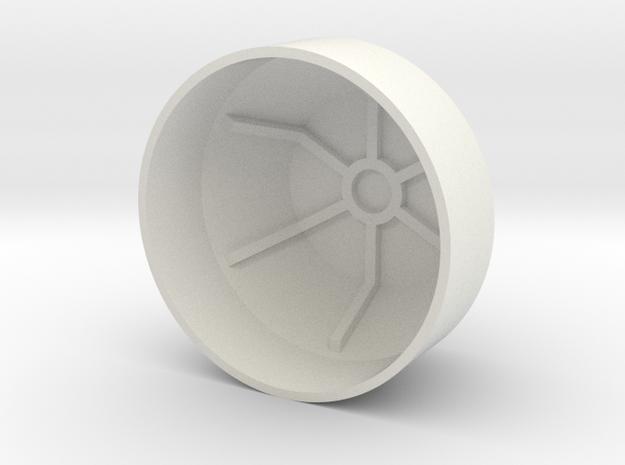 protecting cap in White Natural Versatile Plastic