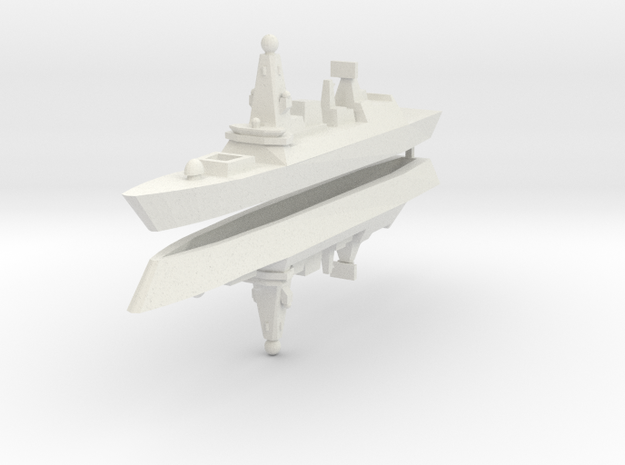 UK Type 45 1:2400 x2 3d printed