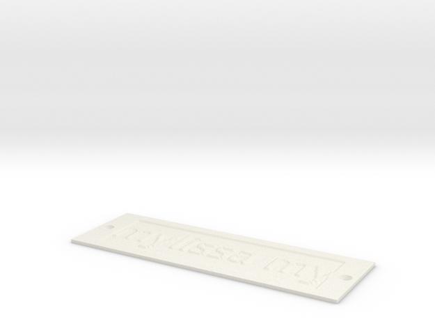 by kelecrea, engraved: mylissa mylove...  in White Natural Versatile Plastic