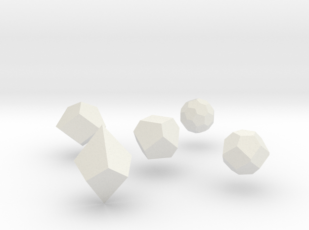 Repulsive Force Polyhedra 3d printed perspective view