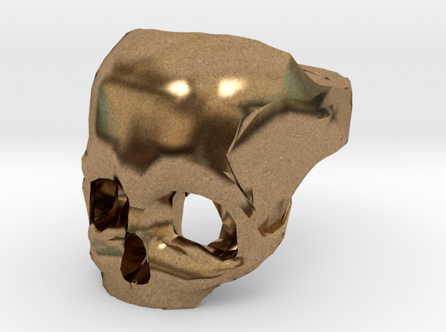 Skull Ring US 12 3d printed