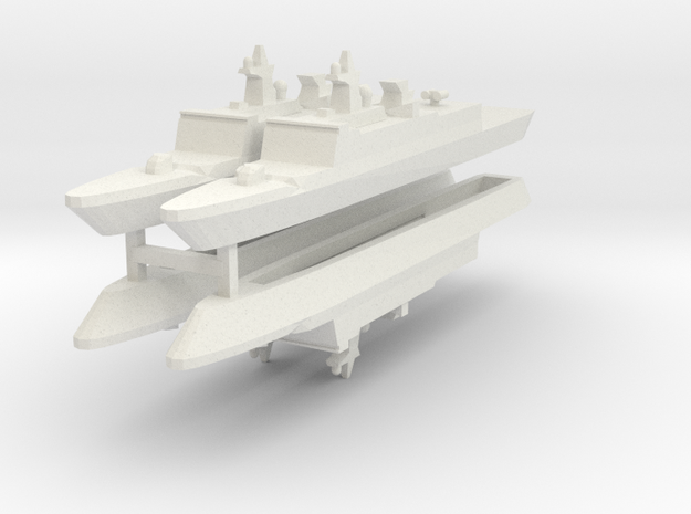 French La Fayette Frigate 1:2400 x4 in White Natural Versatile Plastic