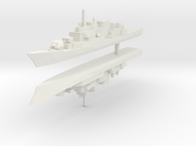 Maestrale frigate 1:2400 x2 in White Natural Versatile Plastic