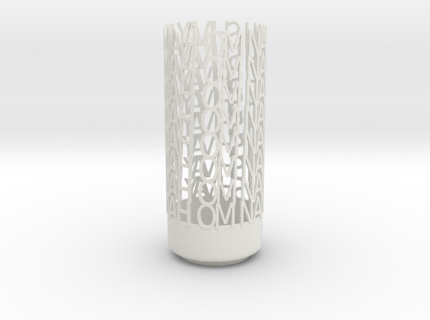 Light Poem - Om namah shivay namah Om - white poli 3d printed