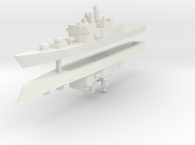 JMSDF Shirane Class DDH-144 1:2400 x2 in White Natural Versatile Plastic