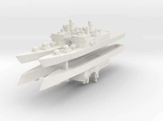 JMSDF Shirane Class DDH-144 1:3000 x4 in White Natural Versatile Plastic