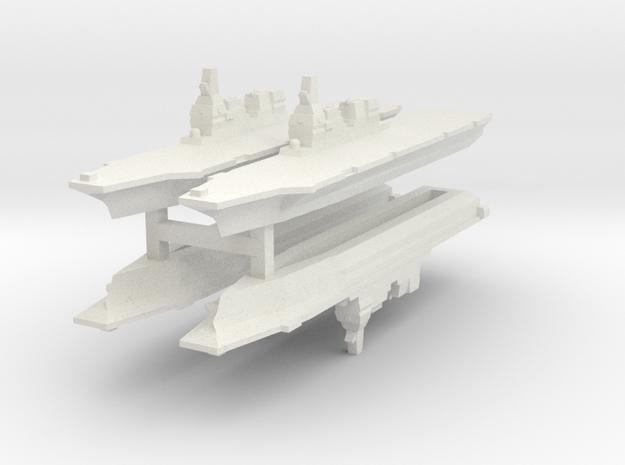 JMSDF Hyuga 1/6000 x4 (WSF) in White Natural Versatile Plastic