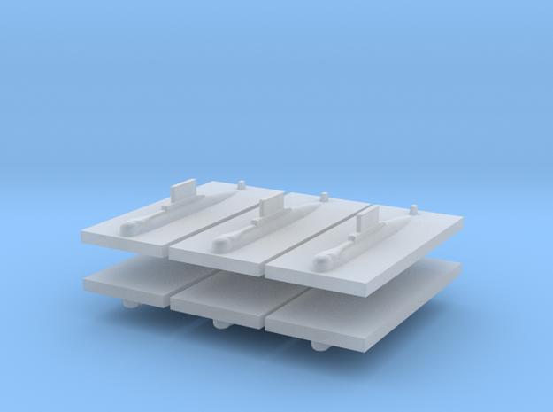 HDW 209/1200 Submarine 1:3000 x6 in Smooth Fine Detail Plastic
