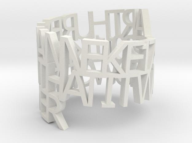 Metal ringpoem in White Natural Versatile Plastic