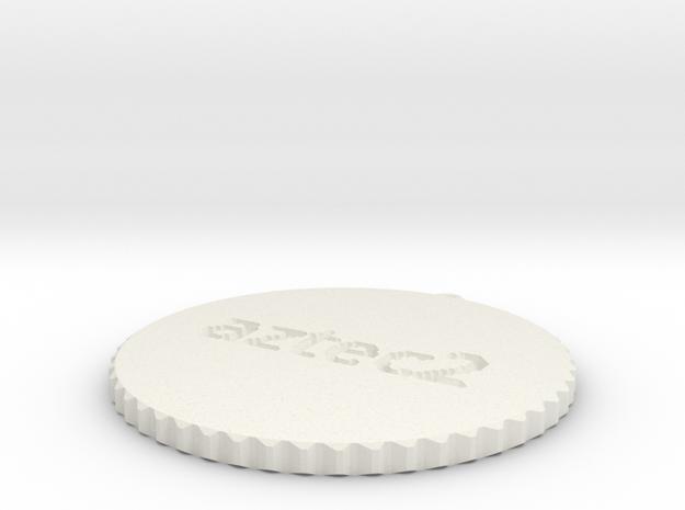 by kelecrea, engraved:  aztec2 in White Natural Versatile Plastic