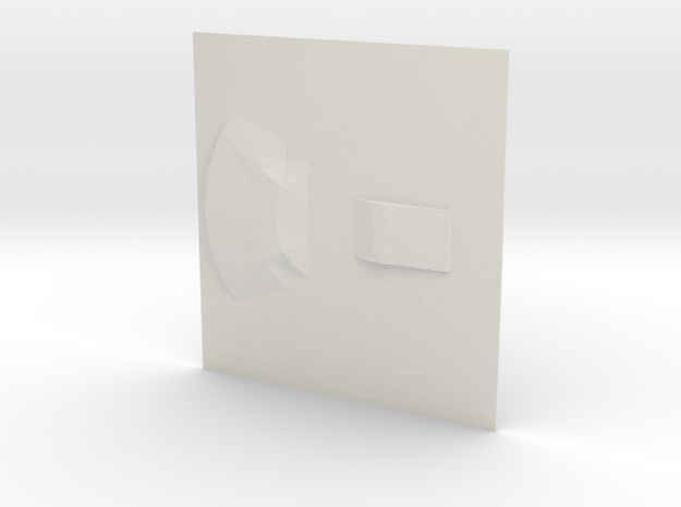 UFO base3 in White Natural Versatile Plastic
