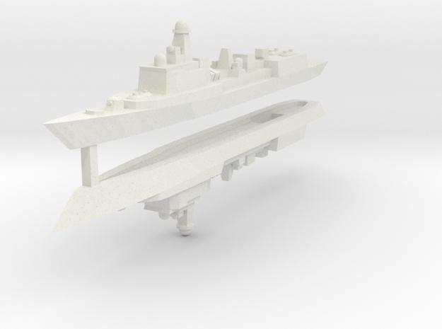 051C PLAN Destroyer 1:3000 x2 3d printed