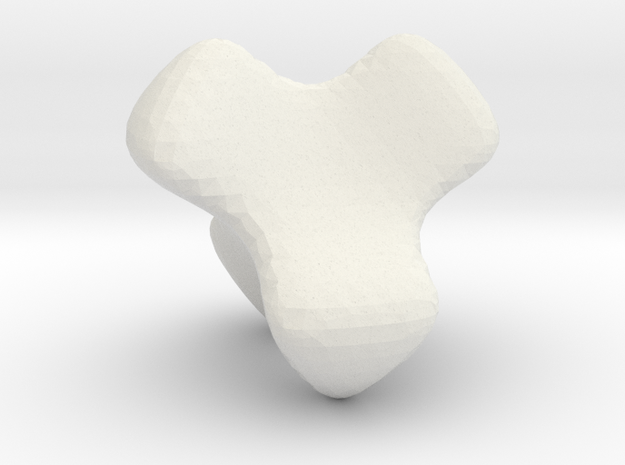 McMullen's K4 tetrahedon in White Natural Versatile Plastic