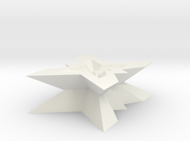 new star form with 5 fold symmetry in White Strong & Flexible