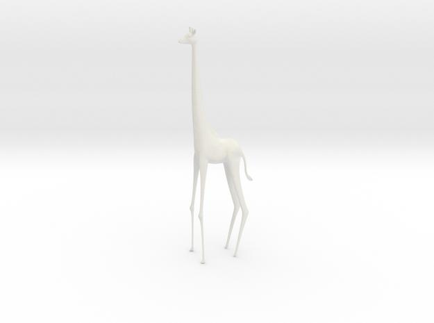 Giraffe in White Natural Versatile Plastic
