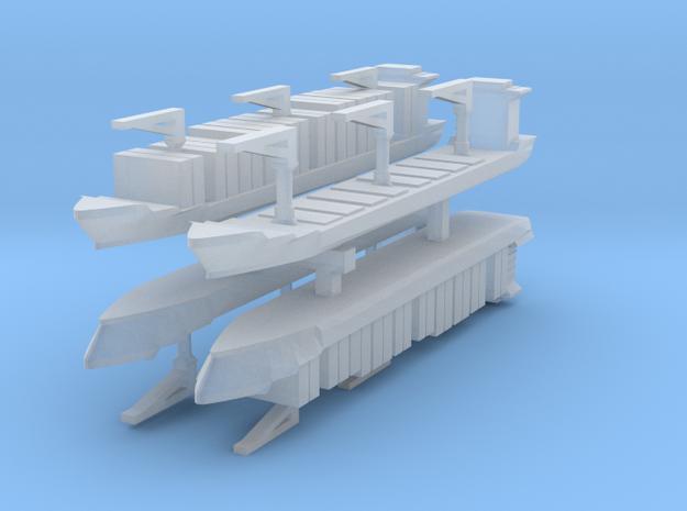 Xiamen Container Ship 1:6000 x4 3d printed