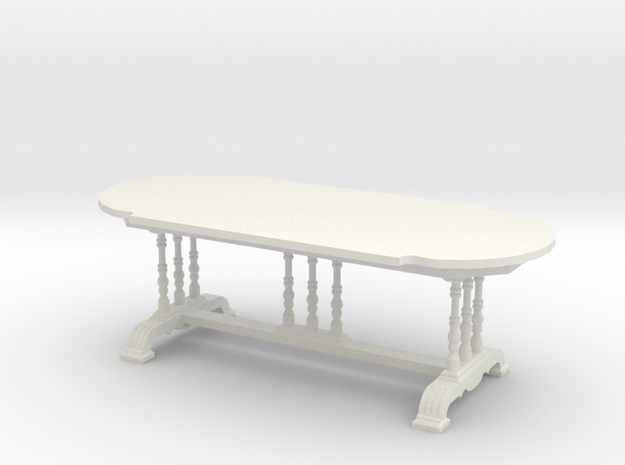 1:24 Old English Dining Table in White Natural Versatile Plastic