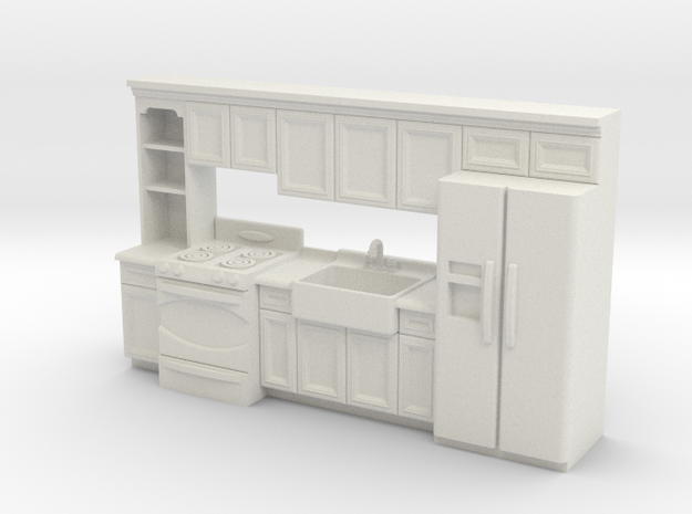 1:48 Farmhouse Kitchen J in White Strong & Flexible