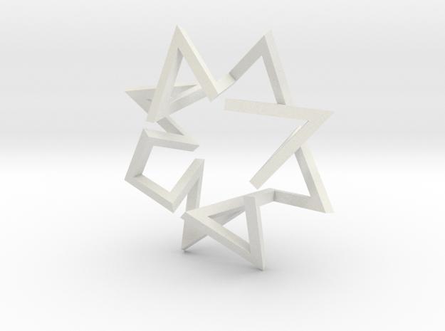 Regular Constant-torsion Polygon (+++---)^4 in White Natural Versatile Plastic