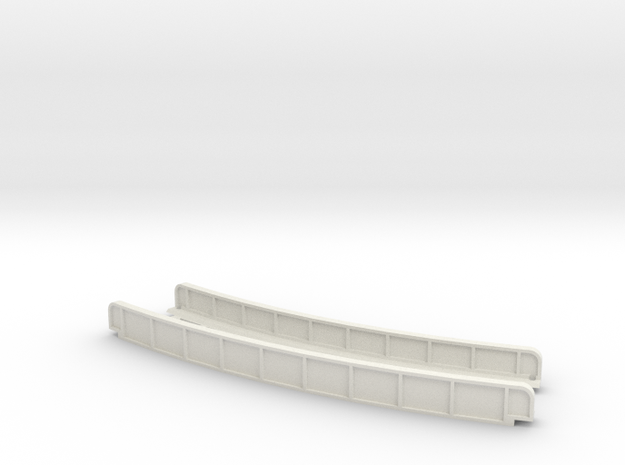 CURVED 270mm 30° SINGLE TRACK VIADUCT in White Natural Versatile Plastic