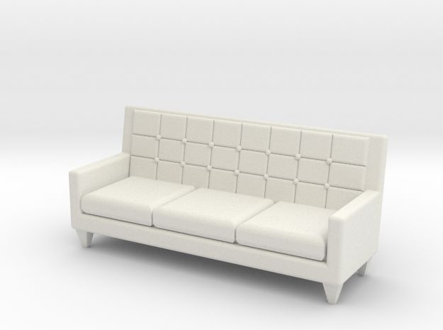 1:36 60's Sofa in White Natural Versatile Plastic