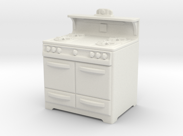 1:24 Wedgewood Stove in White Natural Versatile Plastic