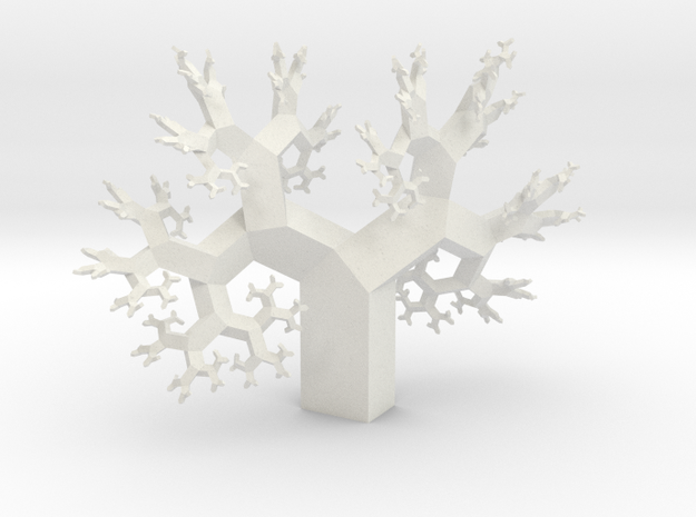 Wild Fractal Tree in White Natural Versatile Plastic