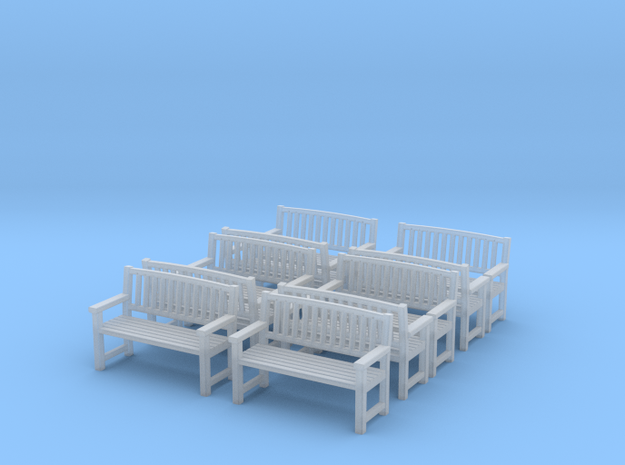 Bench type B - 1:35 scale 10 Pcs set  in Frosted Ultra Detail