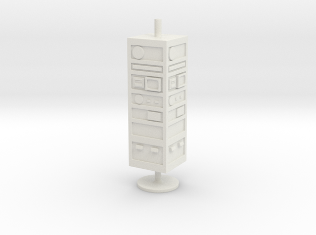 CP02 Comm Tower (28mm) in White Natural Versatile Plastic