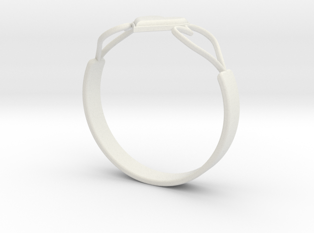 Heart Ring without Text 3d printed
