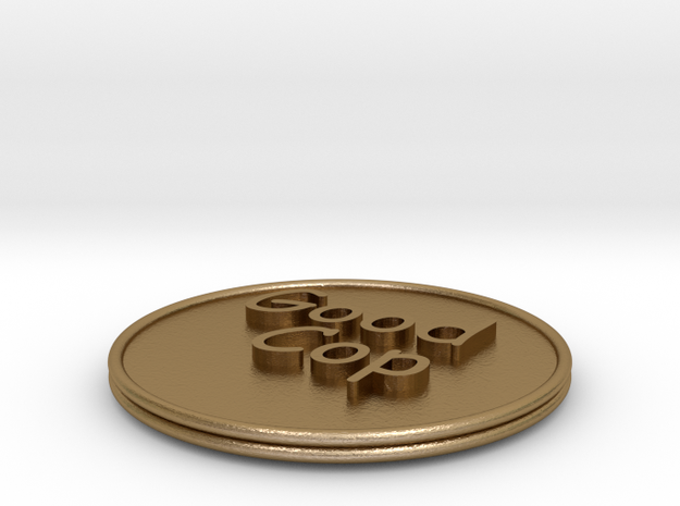 Good Cop/Bad Cop Coin 3d printed