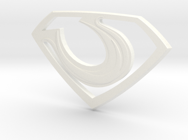 """Zod """"Man of Steel"""" Double Sided in White Processed Versatile Plastic"""