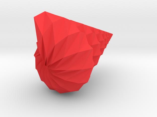 Corrugated Origami Shell - Seashell 3d printed