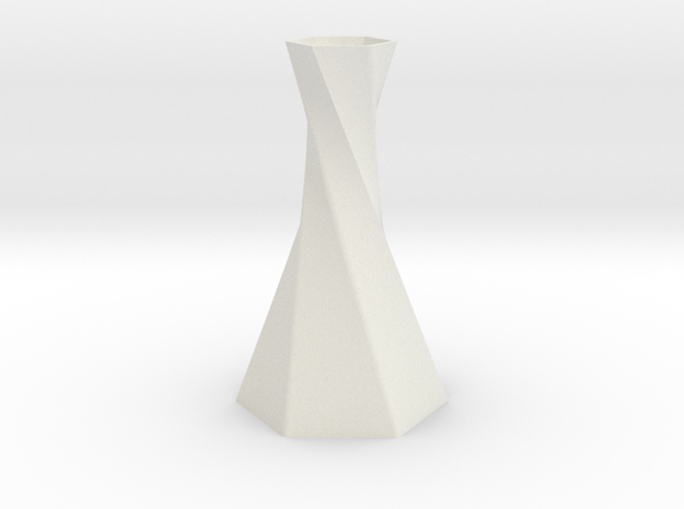 Twisted Hex Vase 3d printed Printed in ABS Orange